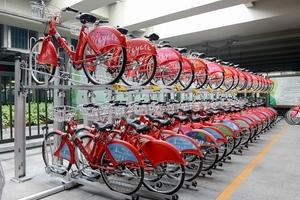 杭州火车东站公共自行车租赁点