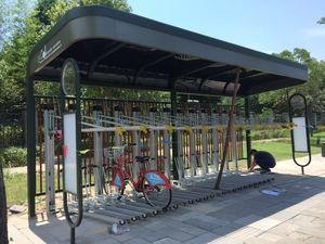 公共自行车立体停车架