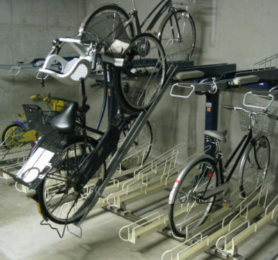 下层固定式+上层抽拉式停车架